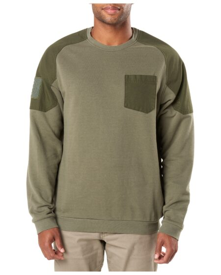 5.11 Tactical Men Radar Fleece Crew Shirt (Green)