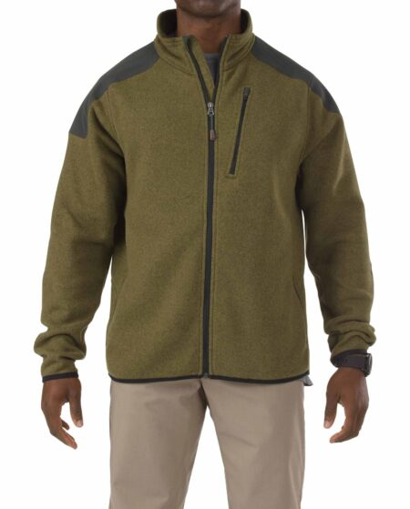 5.11 Tactical Men Tactical Full Zip Sweater (Green)