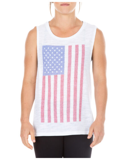5.11 Tactical Women Flag Grid Tank (White)