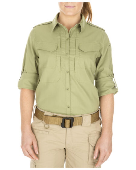 5.11 Tactical Women Women's Spitfire Shooting Shirt (Green)