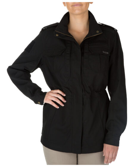 5.11 Tactical Women Women's TACLITE M-65 Jacket (Black), Size L (CCW Concealed Carry)