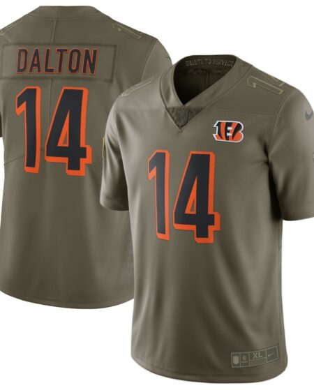 Andy Dalton Cincinnati Bengals Nike Salute To Service Limited Jersey - Olive
