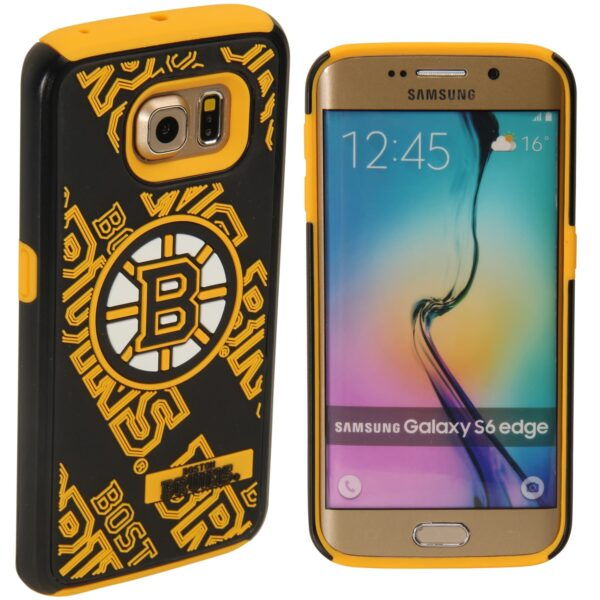 Boston Bruins Galaxy S6 Edge Dual Hybrid Case