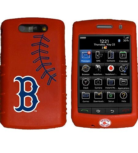 Boston Red Sox BlackBerry Storm Cashmere Silicone Case - Red