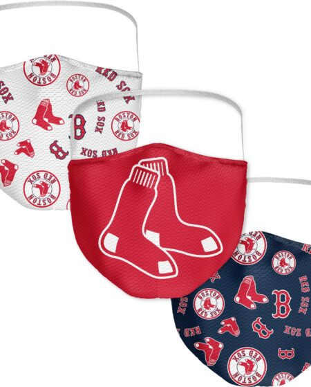 Boston Red Sox Fanatics Branded Adult All Over Logo Face Covering 3-Pack