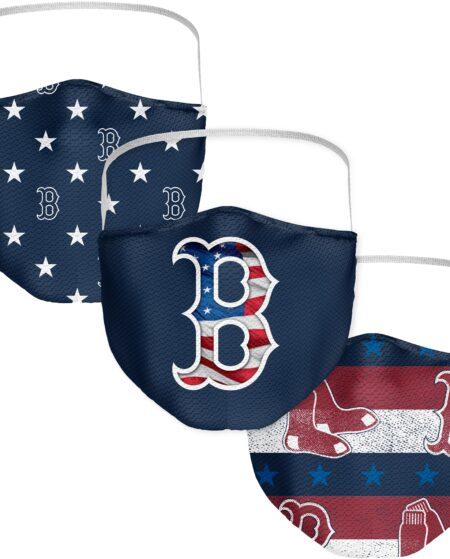 Boston Red Sox Fanatics Branded Adult Patriotic Face Covering 3-Pack