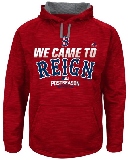 Boston Red Sox Majestic Big & Tall 2016 Postseason Authentic Collection We Came To Reign Streak Hoodie - Red