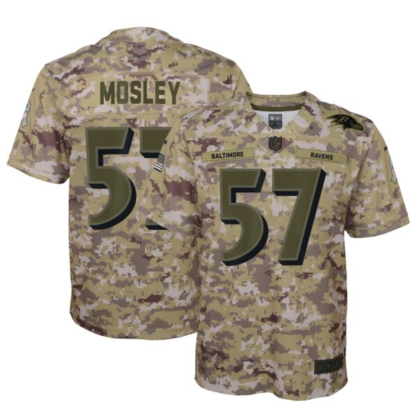 C.J. Mosley Baltimore Ravens Nike Youth Salute to Service Game Jersey - Camo