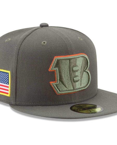 Cincinnati Bengals New Era 2017 Salute To Service 59FIFTY Fitted Hat - Olive