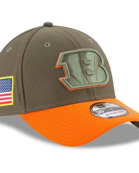 Cincinnati Bengals New Era Youth 2017 Salute To Service 39THIRTY Flex Hat - Olive