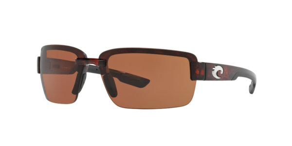 Costa Del Mar Unisex GALVESTON - Frame color: Tortoise, Lens color: Copper, Size 67-15/120