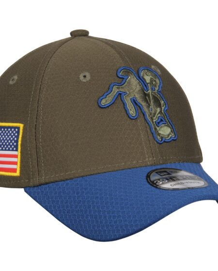 Indianapolis Colts New Era Youth 2017 Salute To Service 39THIRTY Flex Hat - Olive