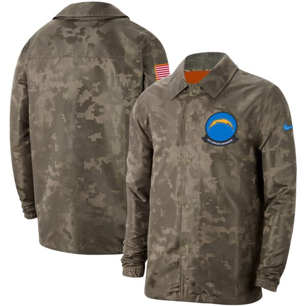 Los Angeles Chargers Nike 2019 Salute to Service Sideline Full-Snap Lightweight Jacket - Camo