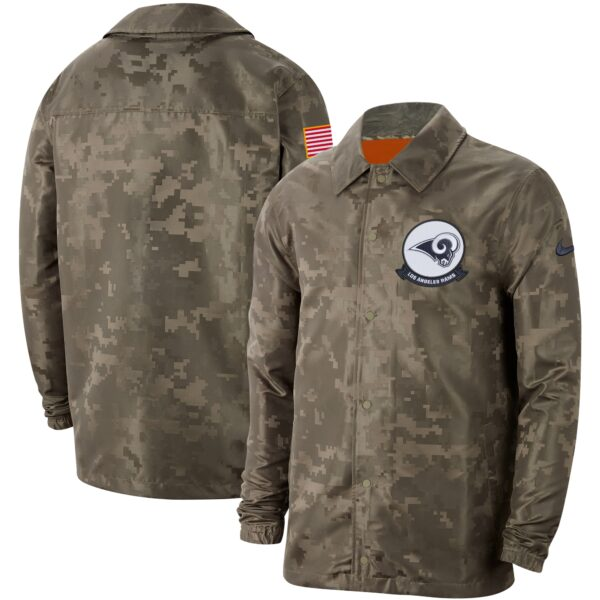 Los Angeles Rams Nike 2019 Salute to Service Sideline Full-Snap Lightweight Jacket - Camo