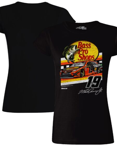 Martin Truex Jr Joe Gibbs Racing Team Collection Women's Bass Pro Shops Retro Car T-Shirt - Black