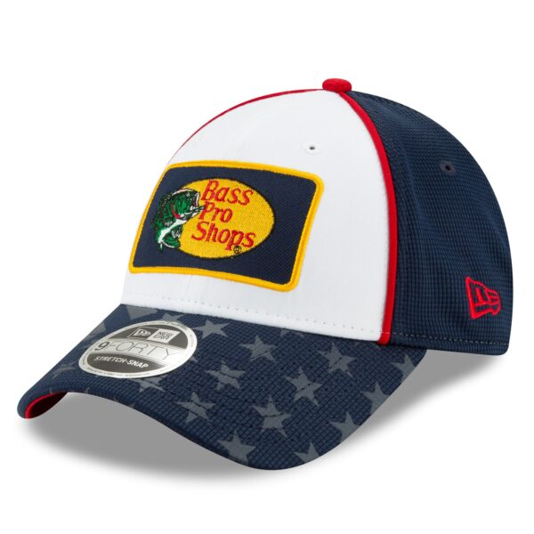 Martin Truex Jr New Era Bass Pro Shops Salutes 9FORTY Snapback Adjustable Hat - White/Navy