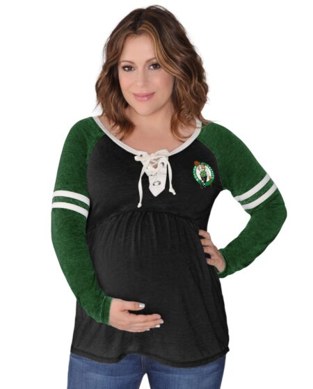 Maternity Touch by Alyssa Milano Heather Gray/Kelly Green Boston Celtics Centerline Long Sleeve T-Shirt