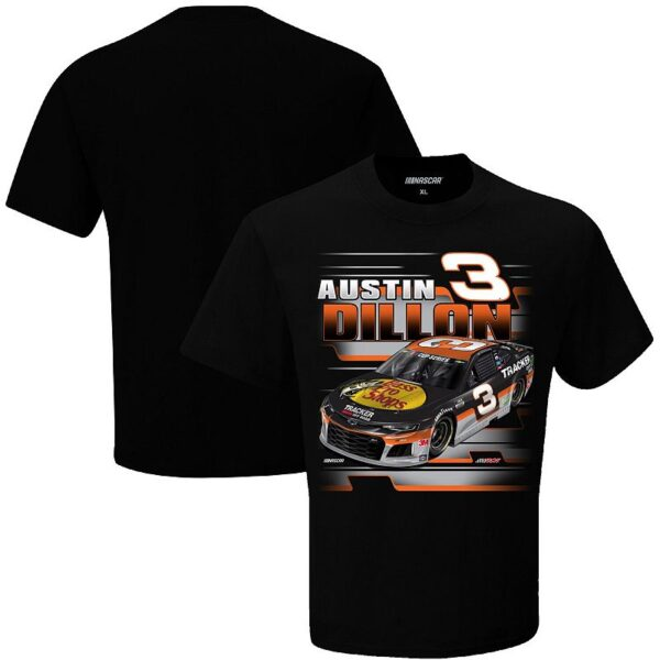 Men's Checkered Flag Black Austin Dillon Bass Pro Shops Graphic One-Spot T-Shirt, Size: 2XL
