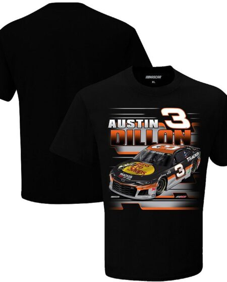 Men's Checkered Flag Black Austin Dillon Bass Pro Shops Graphic One-Spot T-Shirt, Size: Large