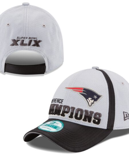 New England Patriots New Era 2014 AFC Champions Trophy Collection Locker Room 9FORTY Adjustable Hat - Gray/Black