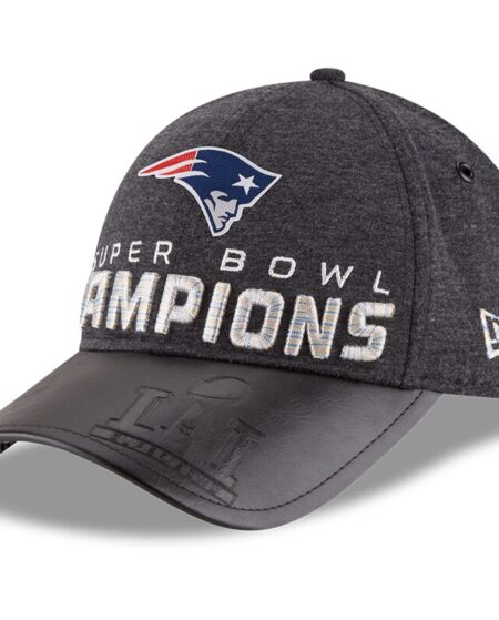 New England Patriots New Era Super Bowl LI Champions Trophy Collection Locker Room 9FORTY Adjustable Hat - Heathered Black