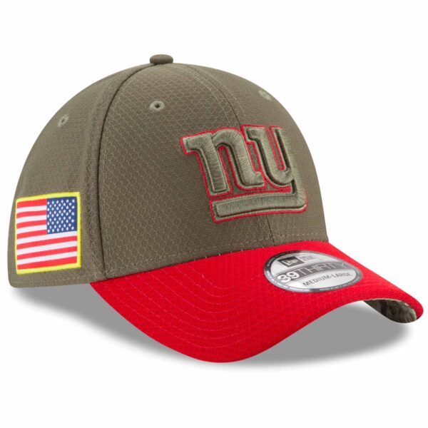New York Giants New Era 2017 Salute To Service 39THIRTY Flex Hat - Olive