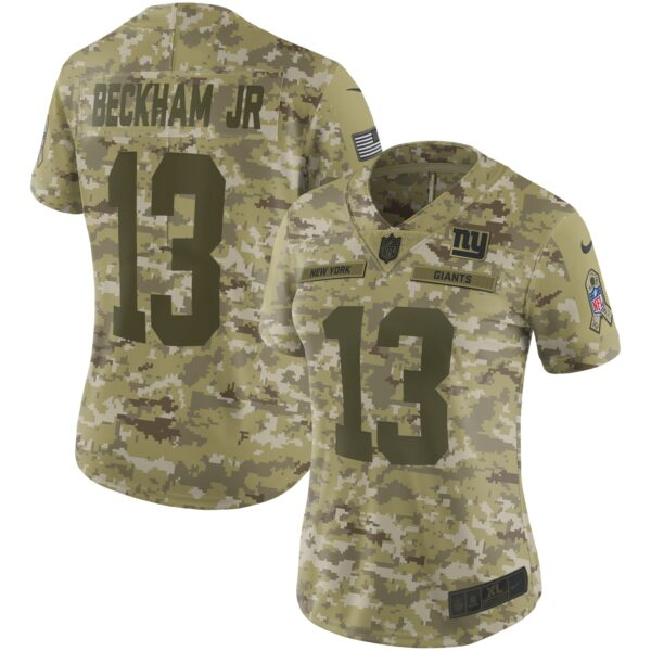 Odell Beckham Jr New York Giants Nike Women's Salute to Service Limited Jersey - Camo
