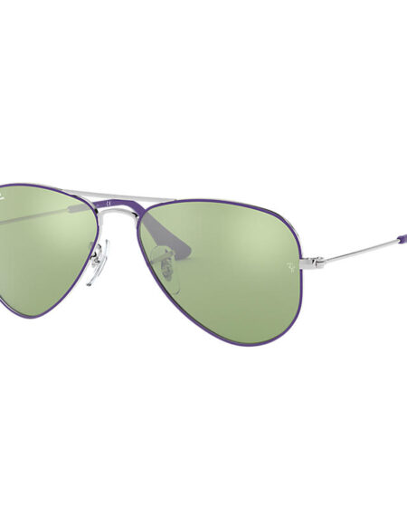 Ray-Ban Aviator Junior Silver, Green Lenses - RJ9506S