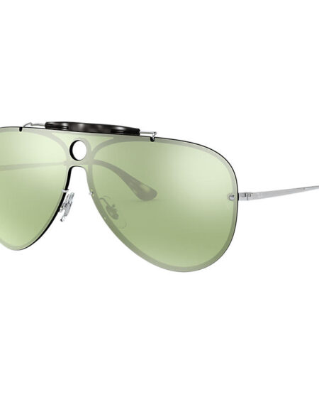 Ray-Ban Blaze Shooter Silver, Green Lenses - RB3581N