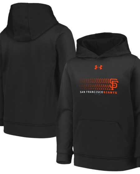 San Francisco Giants Under Armour Youth Armour Fleece Performance Pullover Hoodie - Black