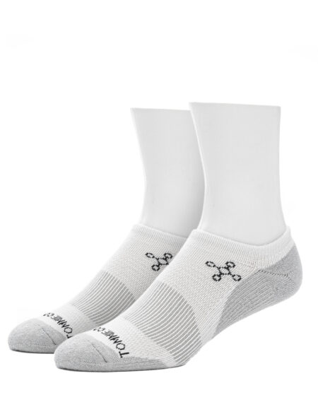 Unisex No Show Socks - White
