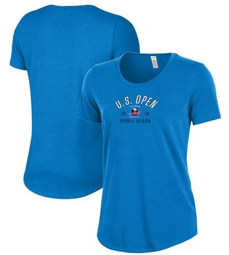 Women's 2019 U.S. Open Under Armour Blue Performance Tri-Blend T-Shirt