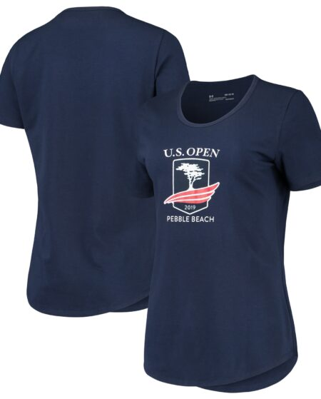 Women's 2019 U.S. Open Under Armour Navy Official Logo Performance Tri-Blend T-Shirt