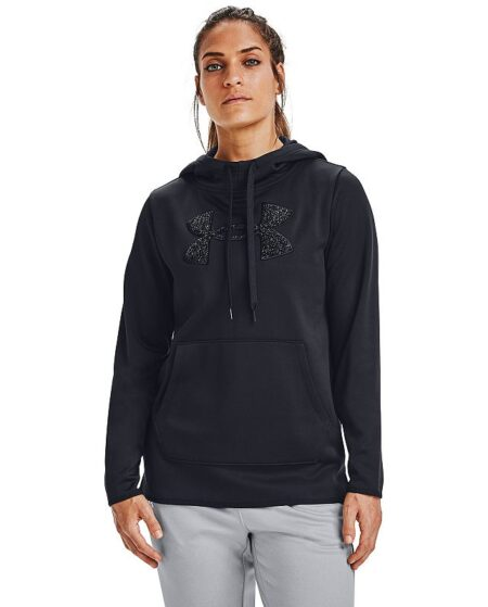 Women's Under Armour Fleece Chenille Hoodie, Size: XS, Black