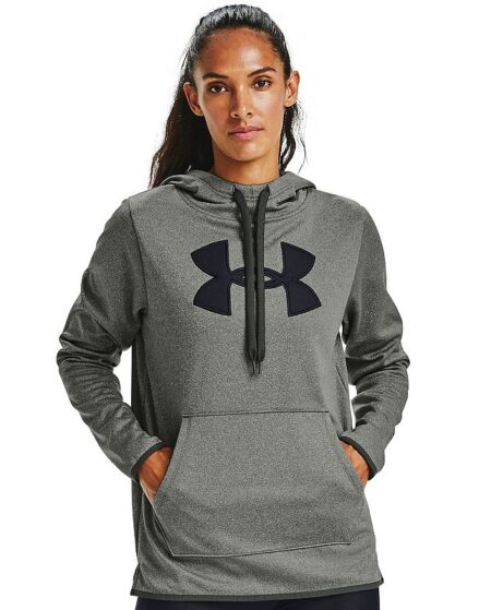 Women's Under Armour Fleece Chenille Hoodie, Size: XS, Med Green