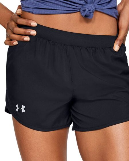 Women's Under Armour Fly By 2.0 Running Shorts, Size: XL, Black