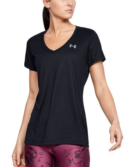 Women's Under Armour Tech Twist V-Neck Tee, Size: Medium, Oxford