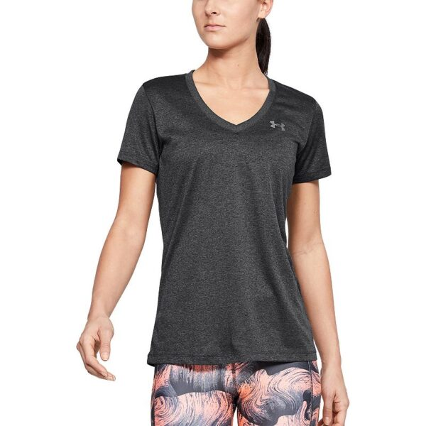 Women's Under Armour Tech Twist V-Neck Tee, Size: XL, Grey