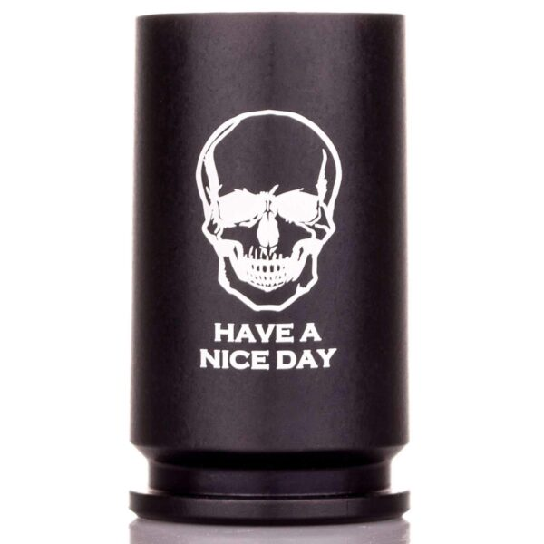 """30MM A-10 Warthog Shell Shot Glass - """"Have a Nice Day"""""""