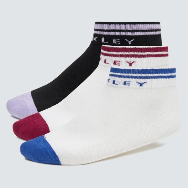 Oakley Women's White Women's Two Stripes Socks Size: M/l
