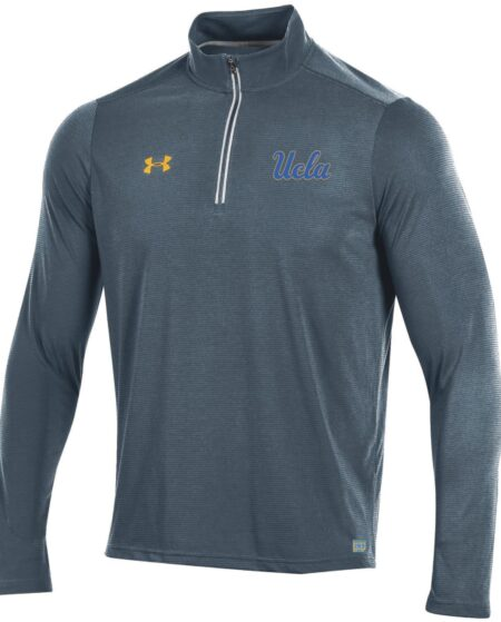 UCLA Bruins Under Armour Threadborne Microthread Quarter Zip Jacket - Gray