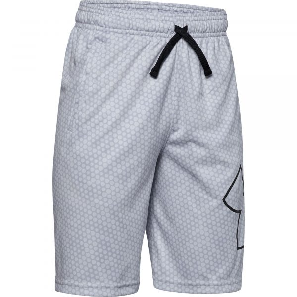 Under Armour Boys' Renegade 2.0 Jacquard Shorts, XS, Gray