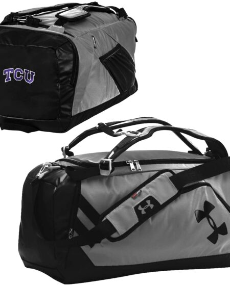 TCU Horned Frogs Under Armour Good Performance Backpack Duffel Bag - Graphite/Black